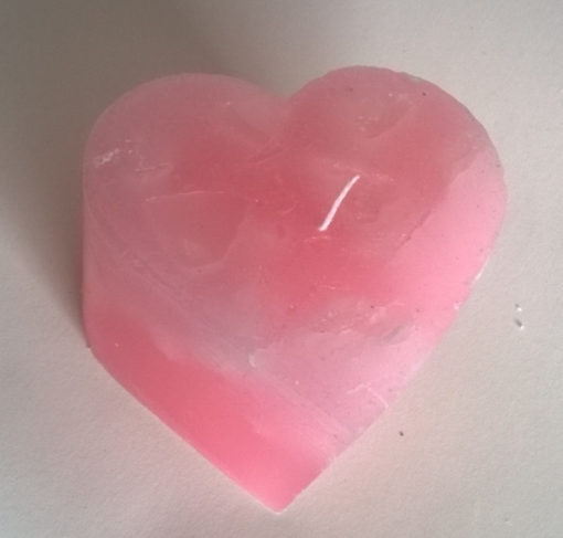 Rose Quartz Heart Candle