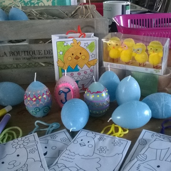Paint your own Easter Egg Candle