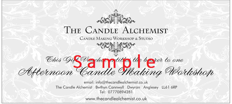 candle making gift vouchers