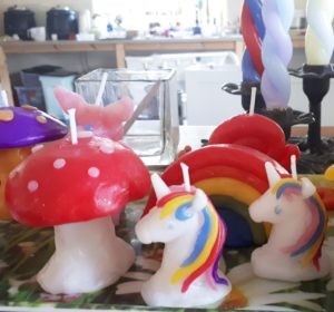 unicorn party candles