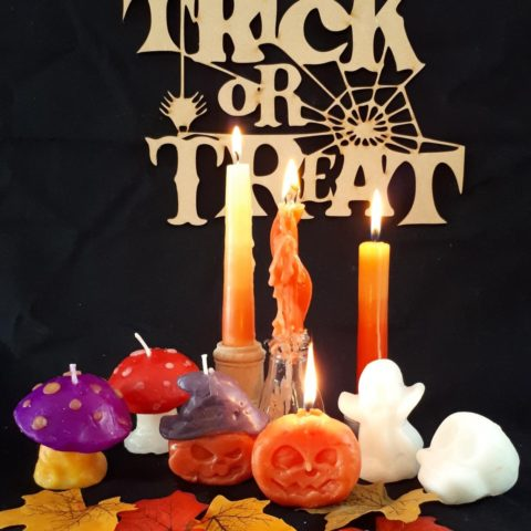 Halloween candles to make