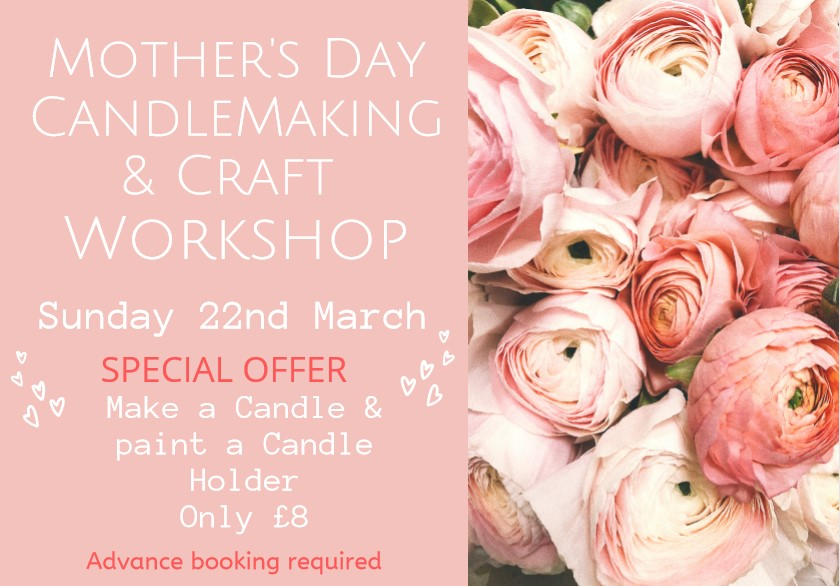 mother's day candlemaking event