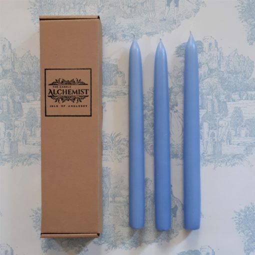 gift box of 3 blue candles - Anglesey
