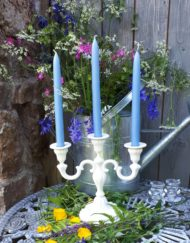 hand dipped blue candles- Anglesey
