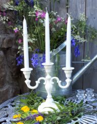 white taper candles anglesey
