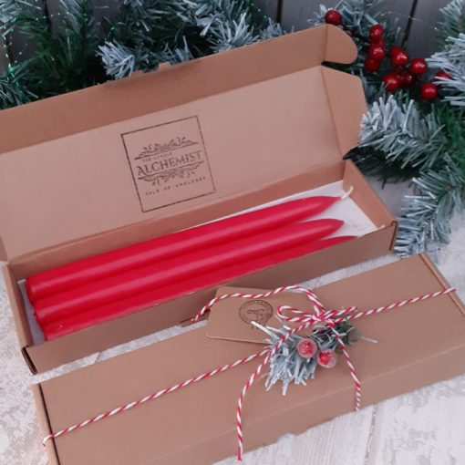 red taper candles
