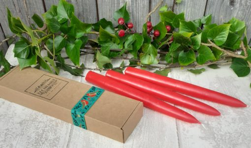 red taper candles anglesey